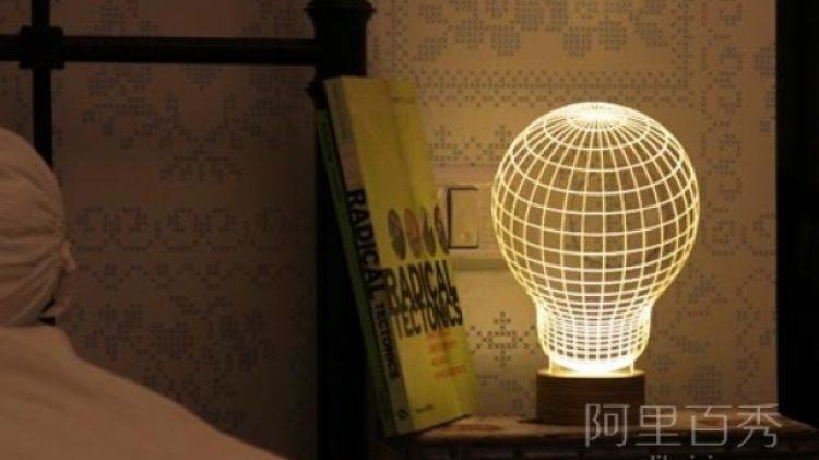 利用错觉设计的3D立体灯泡